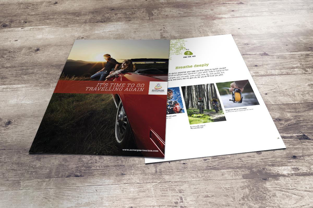 Guide en version anglaise créé par Bande à part pour la communication touristique de l'Auvergne
