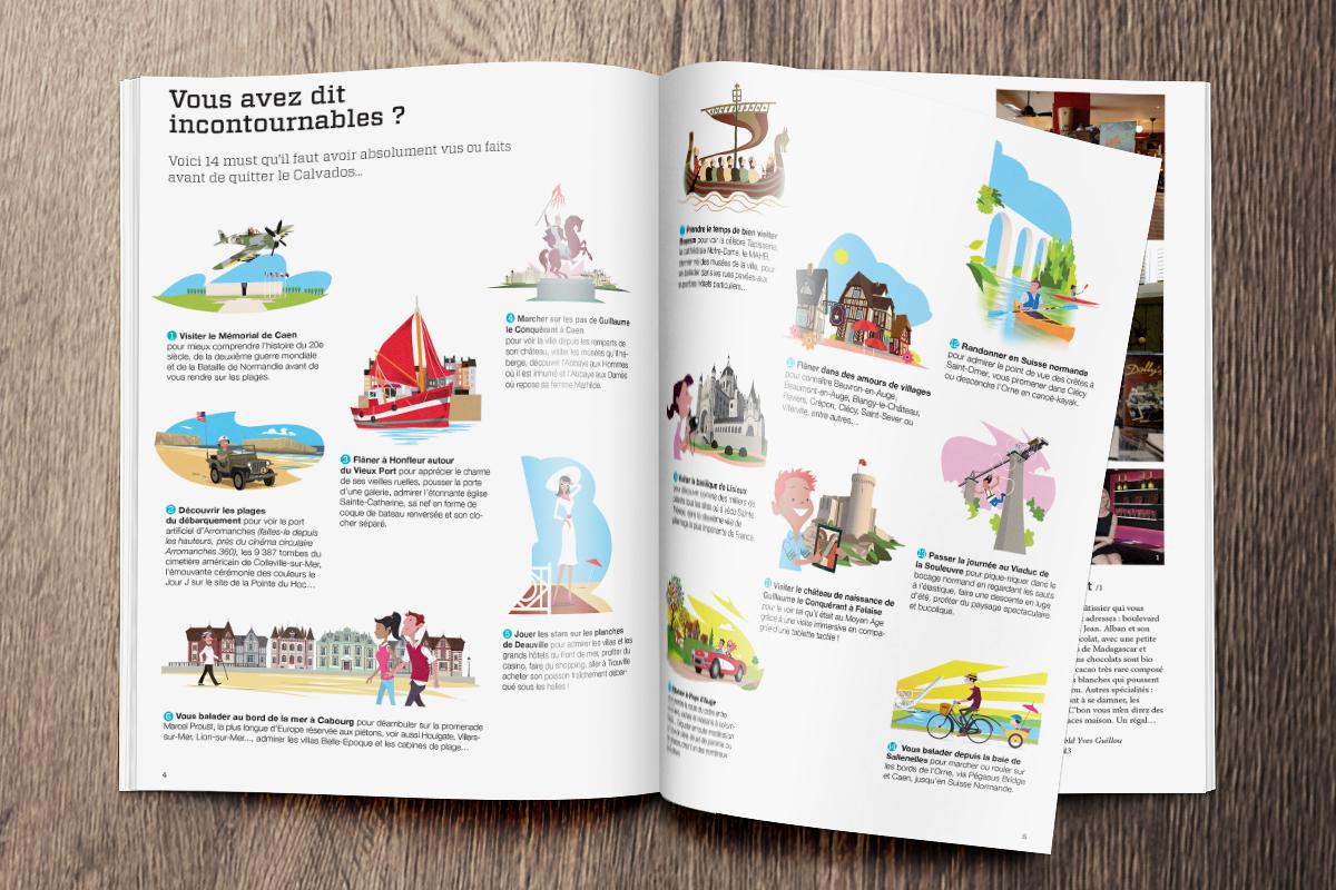 Magazine de destination créé par Bande à part pour Calvados Tourisme