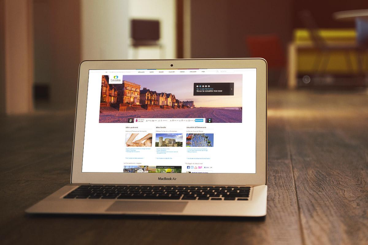 Site Internet desktop créé par Bande à part pour Calvados Tourisme