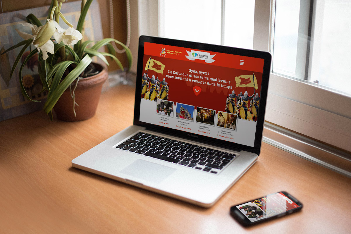 site Internet dédié à la promotion du Calvados médiéval