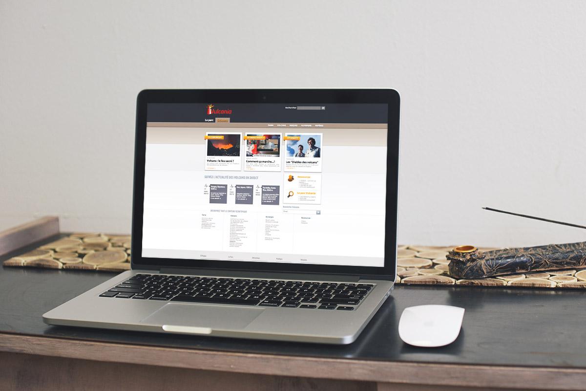 site Internet dédié à la science créé par Bande à part pour Vulcania