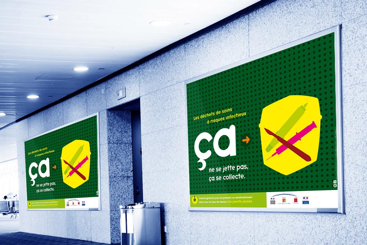 affiche ADEME déchets à risques