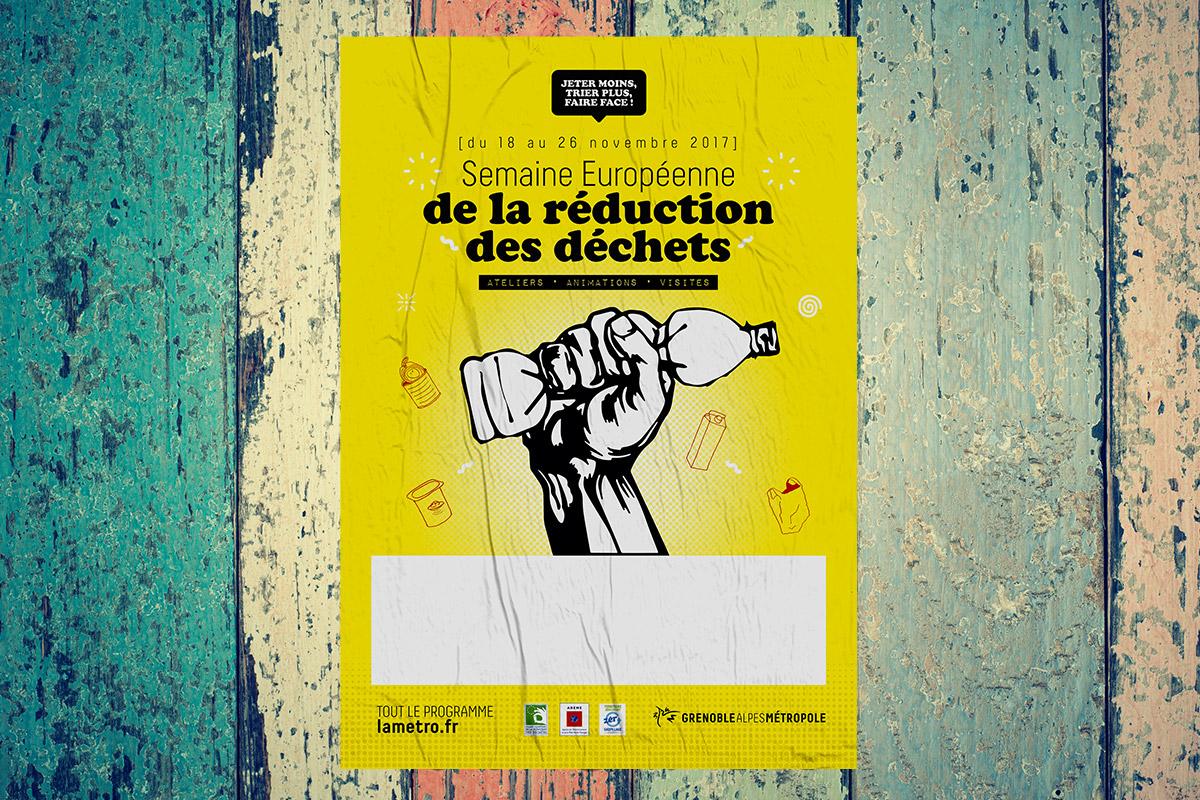 guérilla marketing déchets Grenoble