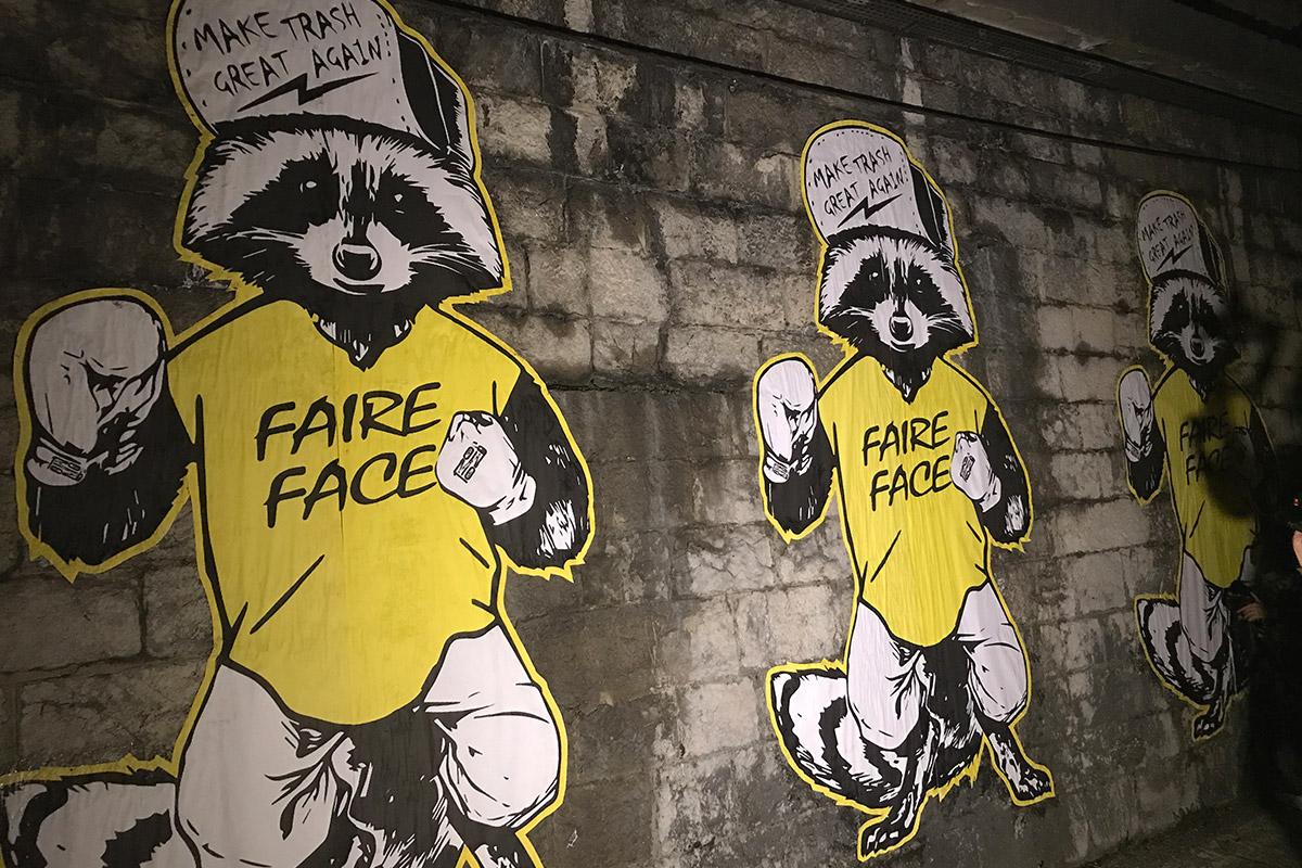 street art déchets Grenoble