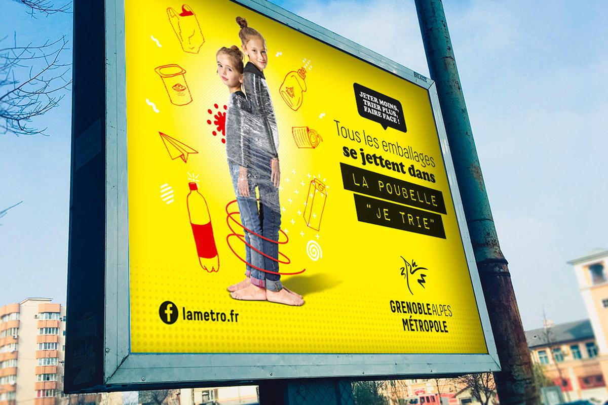 affiche déchets Grenoble