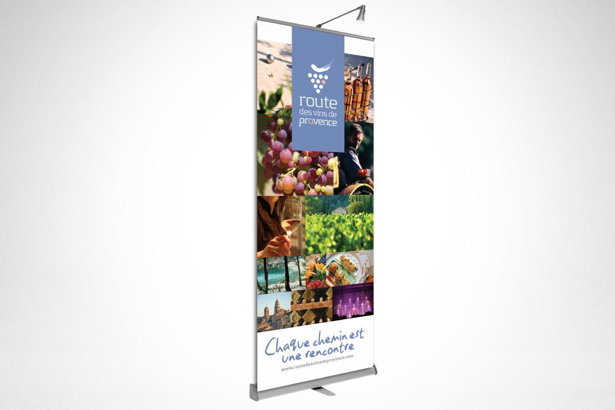 Matériel de communication de La Route des vins de Provence