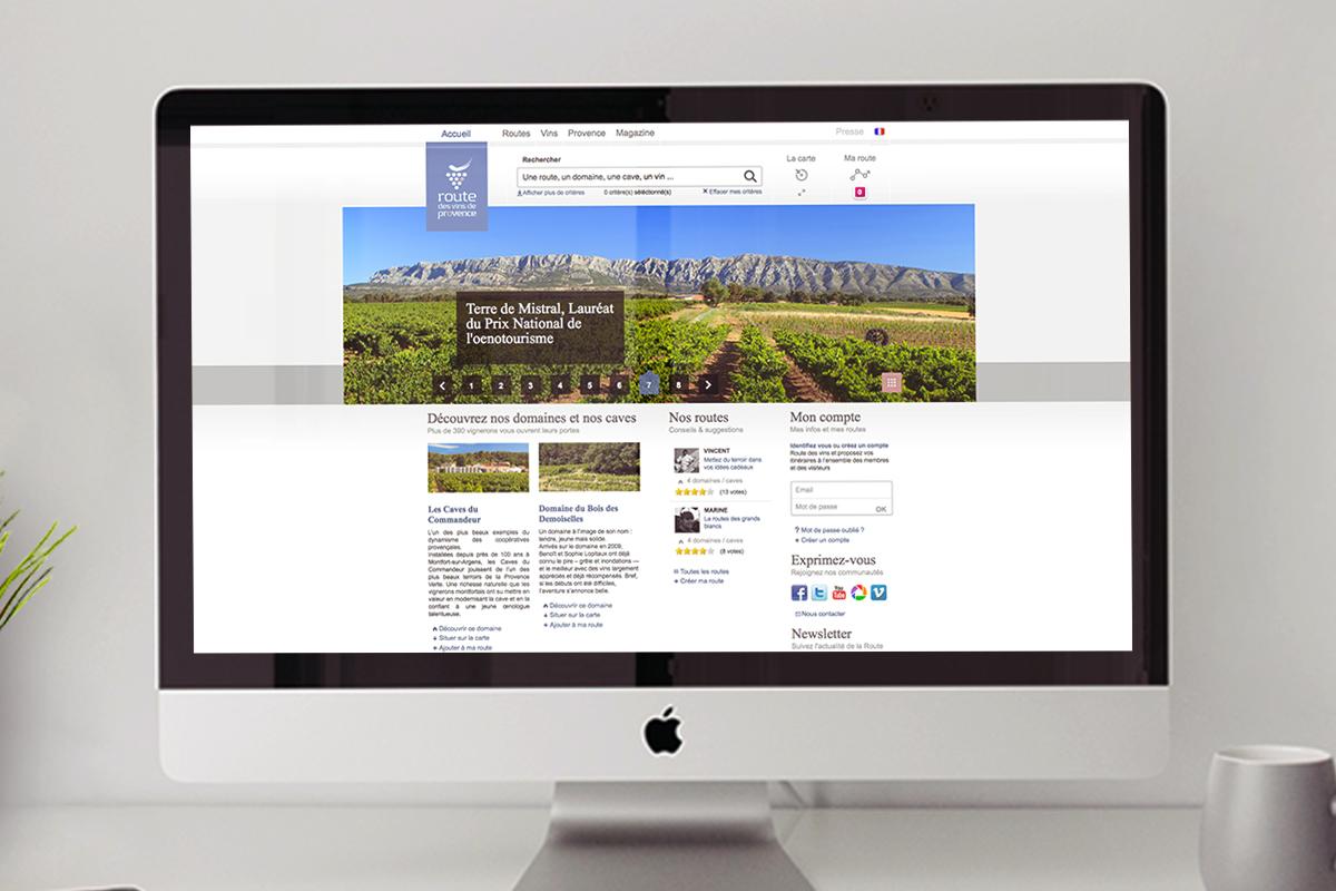 Site Internet de la Route des vins de Provence