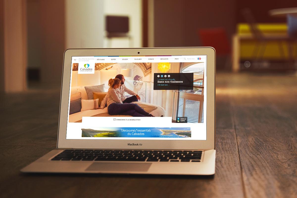 web design site internet desktop réalisé par Bande à part pour Calvados Tourisme