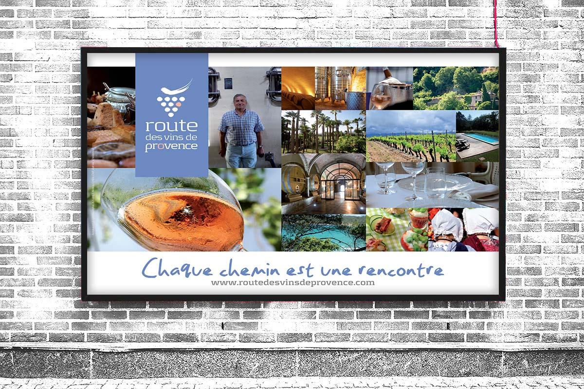 Poster réalisé par Bande à part pour la promotion de La Route des vins de Provence