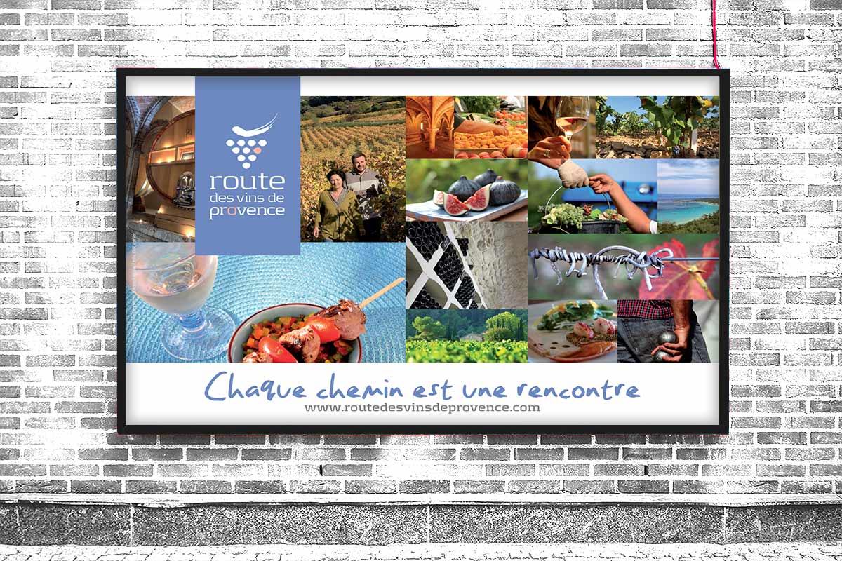 Poster de promotion réalisé par Bande à part pour La Route des vins de Provence