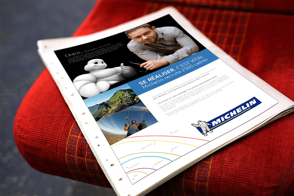 Annonce presse Auvergne Nouveau Monde recrutement Michelin