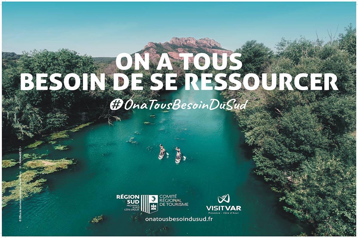 Affiche 4X3 réalisée pour le Var dans le cadre de la campagne on a tous besoin du Sud créée pour le Comité Régional du Tourisme de la Région Sud