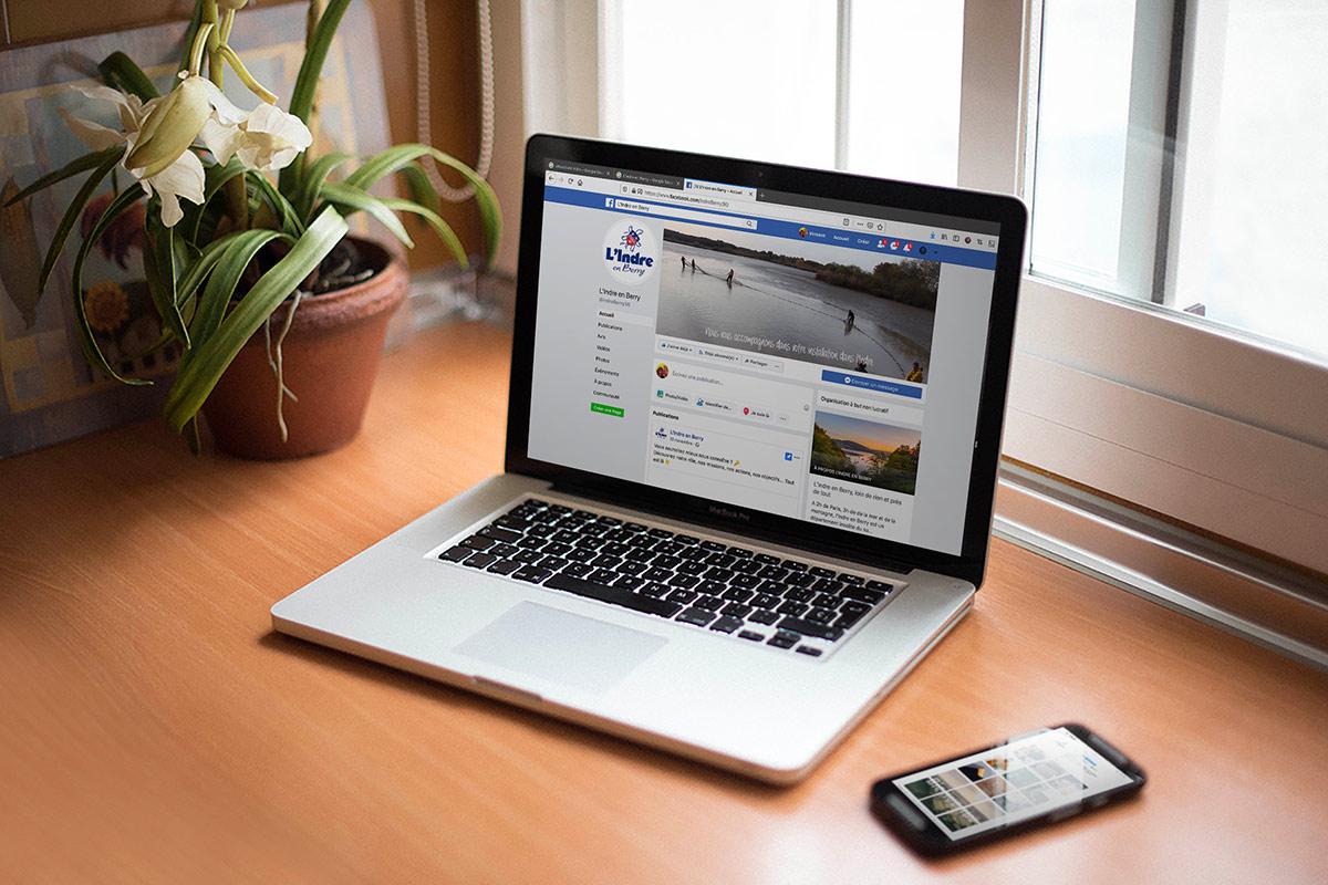 Page Facebook du marketing territorial du département de l'Indre