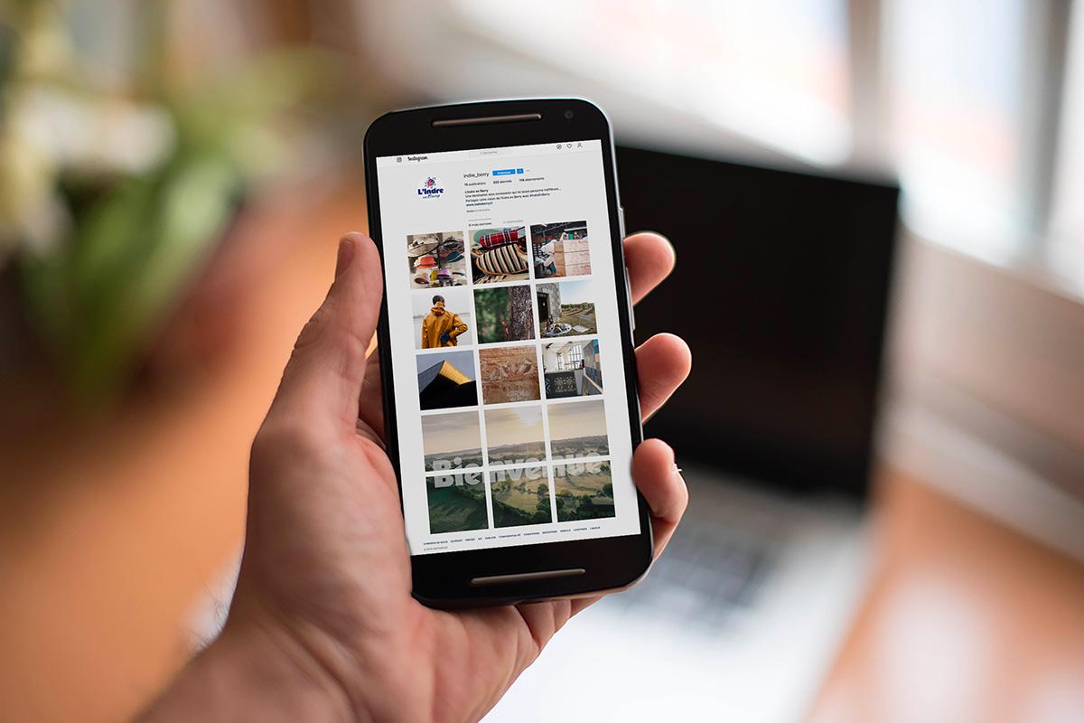 Page Instagram du marketing territorial du département de l'Indre
