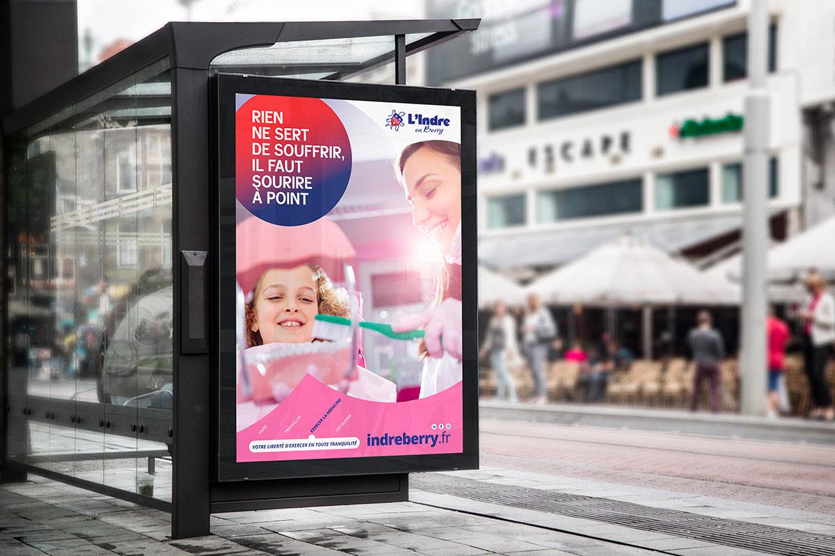 CarAffiche santé réalisée pour le marketing territorial du département de l'Indre