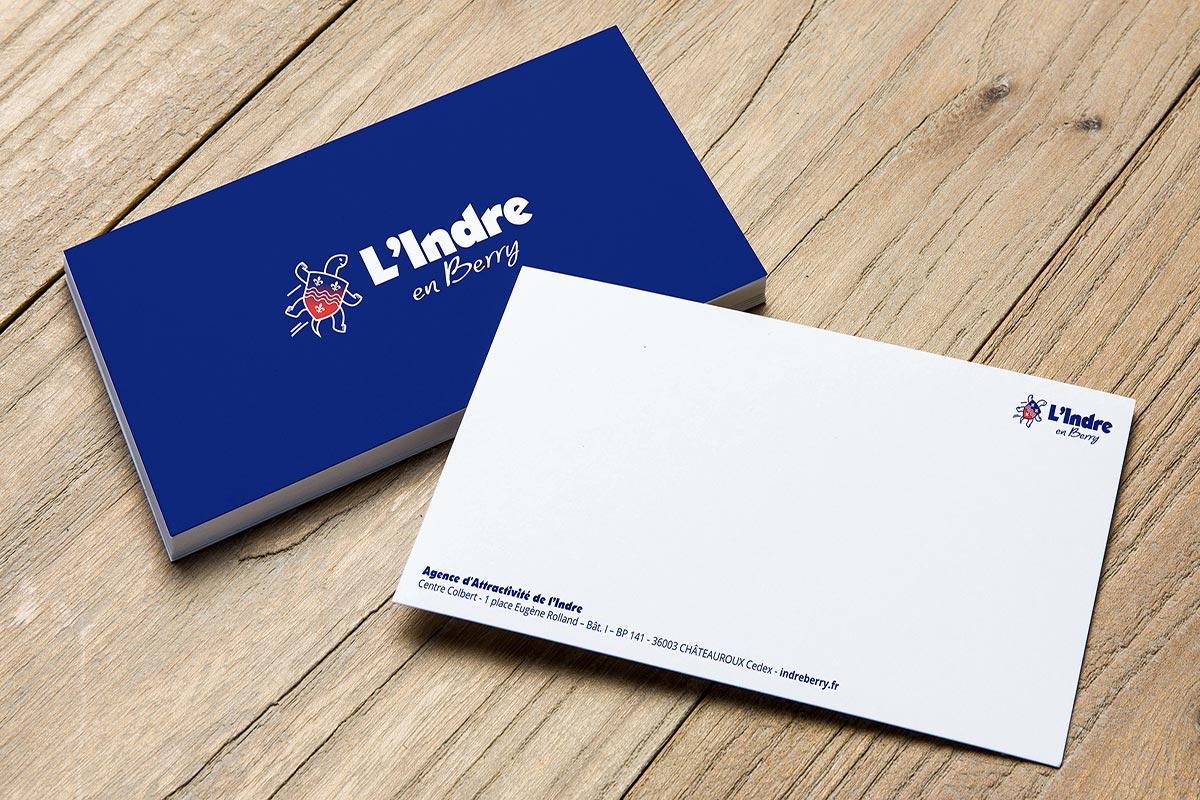 Cartes de correspondance réalisées pour le marketing territorial du département de l'Indre