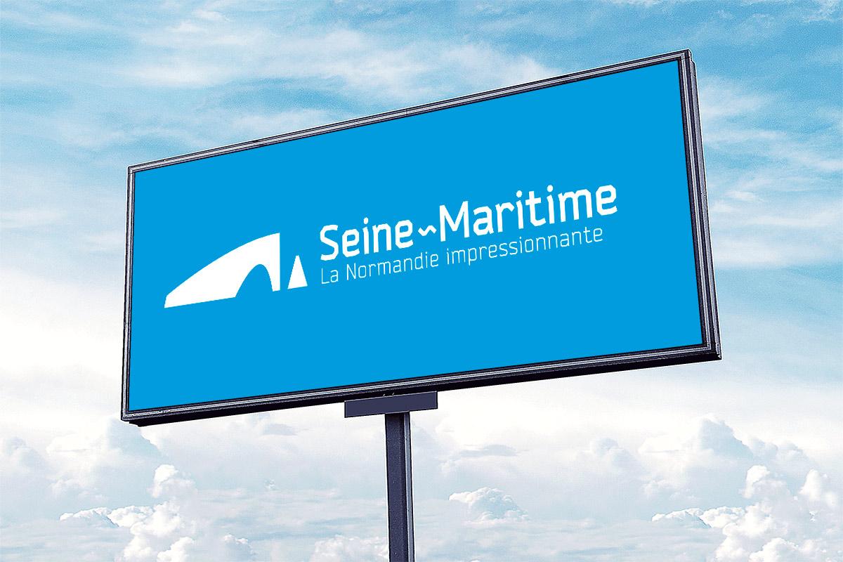 Présentation du logo touristique de la Seine-Maritime, la Normandie impressionnante